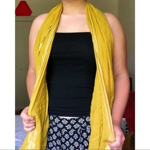 Accessories - Yellow scarf with sparkly edges!